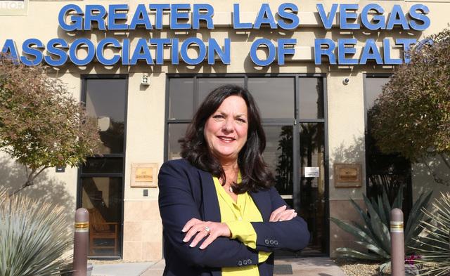 Stephanie Hill of the Greater Las Vegas Association of Realtor (GLVAR), outside GLVAR's building in Las Vegas Monday, Dec. 5, 2016. (Bizuayehu Tesfaye/Las Vegas Review-Journal) @bizutesfaye