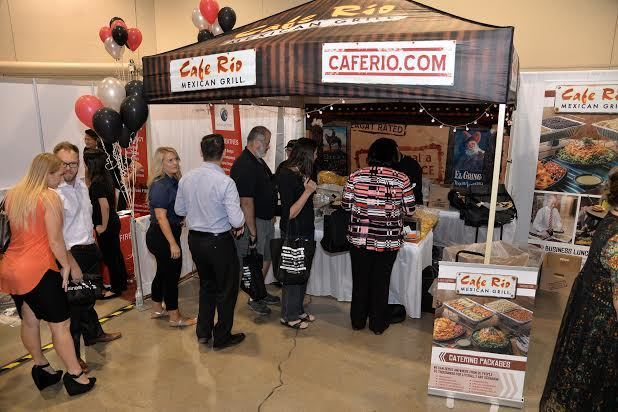 The Cafe Rio booth draws a crowd at the Metro Chamber's Business Expo June 15. (Courtesy)