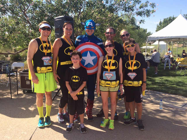 Superheroes join the fight to battle childhood cancer during the annual Superhero 5K with Chet Buchanan at Exploration Park in Mountain's Edge. Sign up for this year's event is Sept. 10.