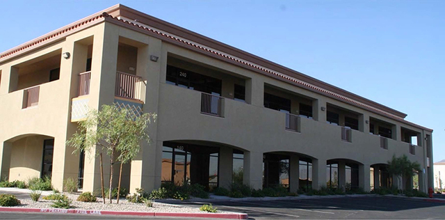 Great Blue Lake LLC purchased the 18,684-square-foot office property at 1410 & 1434 E. Lake Mead Parkway in Henderson for $1.38 million. (Courtesy)