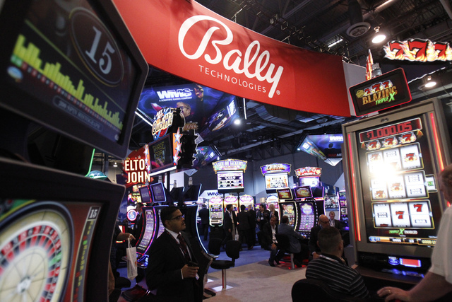 Bally Technologies' new slot machines were on display at last year's Global Gaming Expo at Sands Expo and Convention Center. This year's show will be held Sept. Sept. 26-29. (Erik Verduzco/Las Veg ...