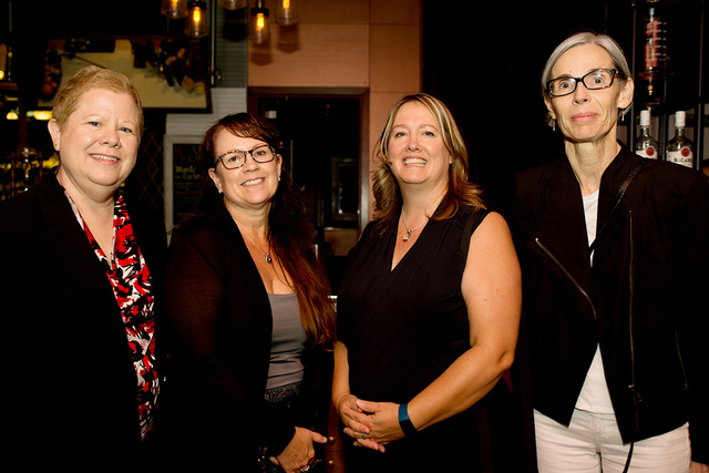 Tonya Harvey/Las Vegas Business Press Attending the Sept. 8 Legal Connection event are from left: Debbie Donaldson, Las Vegas Business Press publisher; Catherine M. Mazzeo, Clark County Bar Associ ...