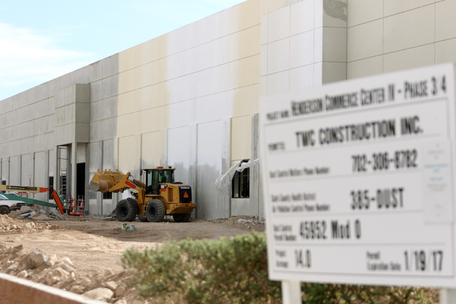 Ronda Churchill/Las Vegas Business Press Construction is shown at Henderson Commerce Center of Harsch at 7330 Eastgate Road, Suite 150.