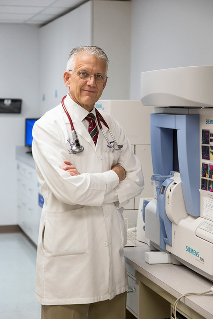 David Reisman/Las Vegas Business Press Dr. Edwin Kingsley, a medical oncologist and hematologist and one of the founding members of the Comprehensive Cancer Centers of Nevada, wants to bring a bon ...