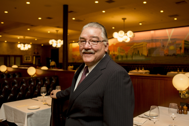 Larry Close, general manager of Palm Restaurant, is leading the famous brand into its next stage. (Elizabeth Brumley/Las Vegas Business Press)