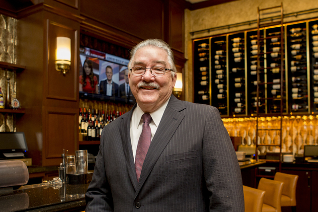 Larry Close, general manager of Palm Restaurant, oversaw the famous eatery's $2.5 million renovation this summer. (Elizabeth Brumley/Las Vegas Business Press)