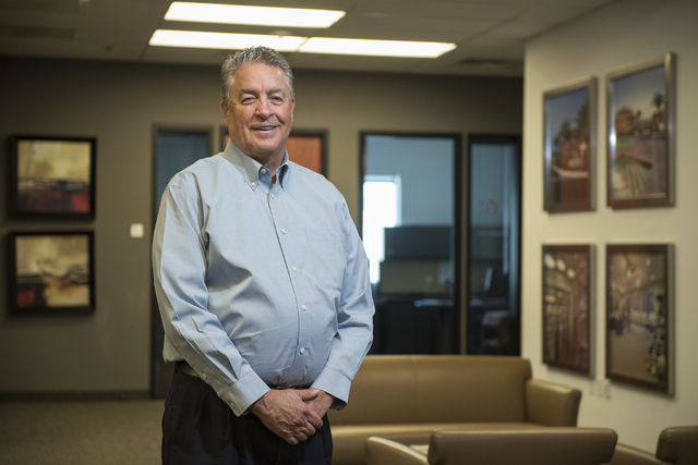 Bob Weidauer, CEO of WestCorp Management Group, believes the real estate asset management company is poised for continued growth in Las Vegas and beyond. (Martin S. Fuentes/Las Vegas Review-Journal)