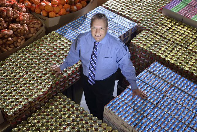 Dan Williams, chief operating officer at Three Square Food Bank, used his decade­long grocery career to help the local charity. (Bill Hughes/Las Vegas Business Press)