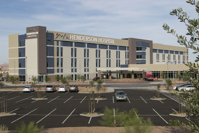 Henderson Hospital is seen, Friday, Oct. 7, 2016. The hospital is scheduled to open the morning of Oct. 31. (Richard Brian/Las Vegas Business Press)