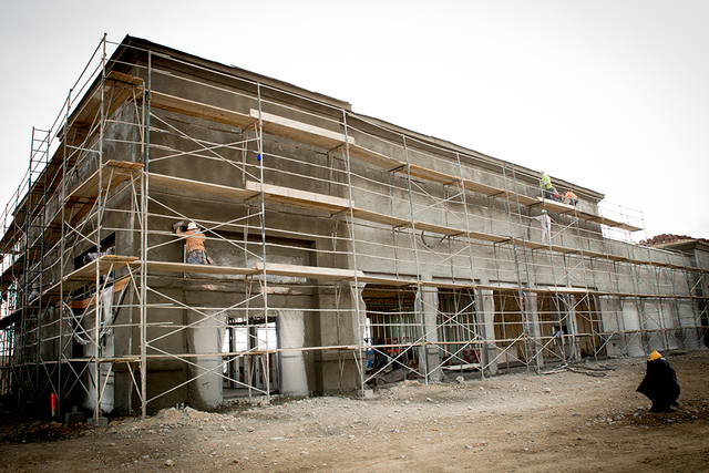 Las Vegas-based NDL Group Inc., a general contracting and consulting firm, is building Oso Blanca Pavilions, a more than 37,000-square-foot retail project near Farm and Oso Blanca roads. (Tonya Ha ...