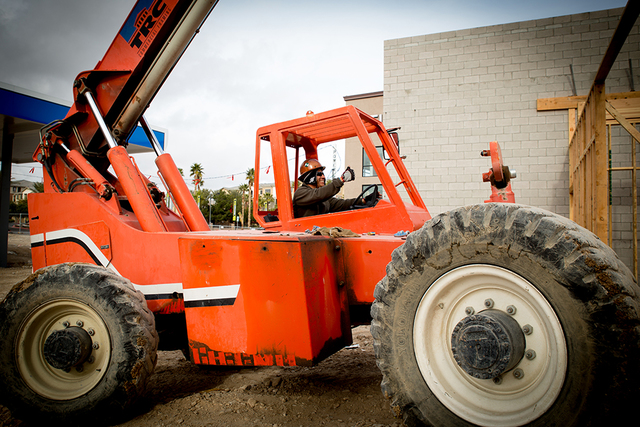 A worker on a Las Vegas-based NDL Group Inc. Commercial contractors and homebuilding companies are finding it hard to fill construction jobs. Some groups, such as the Southern Nevada Home Builders ...