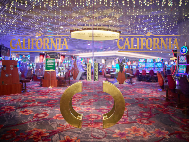 The California's renovation included modernization of the casino floor. The casino was given a modern island vibe with new carpet, molding and chandeliers. The valet area also was updated. (Courtesy)