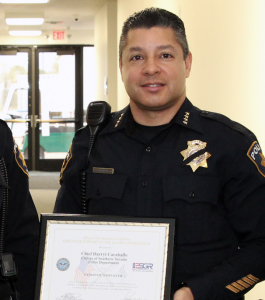 College of Southern Nevada police chief, Darryl Caraballo was honored for the department's steadfast support of the U.S. military. (Courtesy)