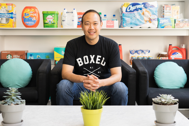 COURTESY Chieh Huang is co-founder and CEO of New York-based wholesale online retailer, Boxed Wholesale. The fulfillment company opened a distribution center in North Las Vegas in 2013.