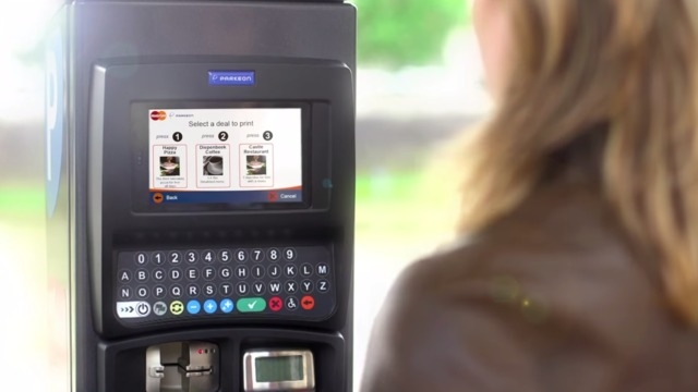 A new parking meter that dispenses coupons has gone into service at the Downtown Container Park. (Courtesy)
