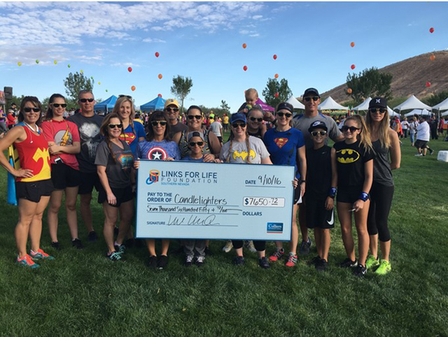 Colliers International–Las Vegas and its charitable foundation, Links for Life, teamed up to raise more than $7,500 for Candlelighters Childhood Cancer Foundation of Nevada at the 26th annual Su ...