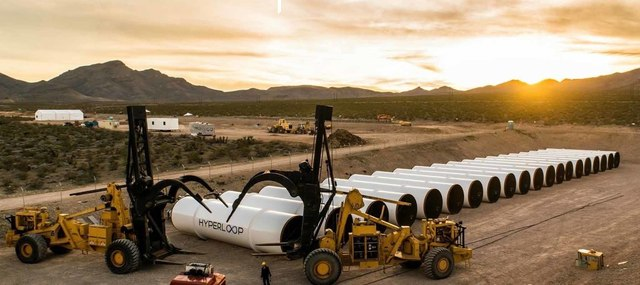 North Las Vegas is the test site for billionaire engineer and entrepreneur Elon Musk's Hyperloop One  project. (Courtesy)