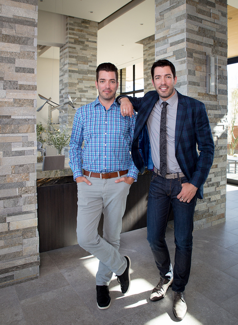 "Las Vegas residents TV starts ""The Property Brothers"" Drew and Jonathan Scott launched Dream Homes by Scott Living last month. (TONYA HARVEY/REAL ESTATE MILLIONS)"