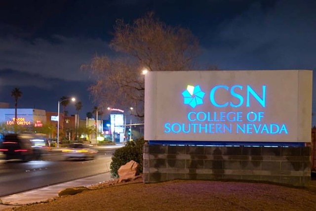 File photo  The College of Southern Nevada has released a study saying the region's three community college campuses are a worthy investment.