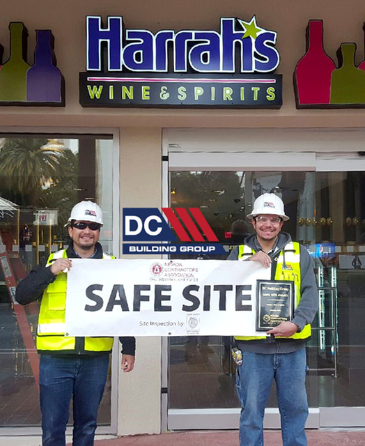 DC Building Group has received its 17th Safe Site Award from the Las Vegas Associated General Contractors and Nevada Contractors Association for construction of Harrah's Wine & Spirits on th ...
