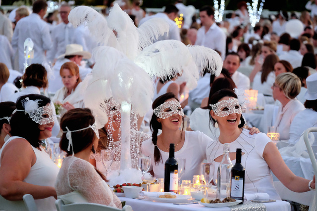 COURTESY Le Diner en Blanc, a large-scale epicurean pop-up event where guests bring their own cuisine, will be coming to Las Vegas on April 17.