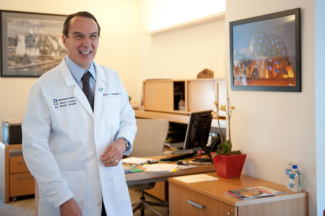 Dr. Jeffrey Cummings, director of the Cleveland Clinc Lou Ruvo Center for Brain Health, is shown in his office. (Courtesy)