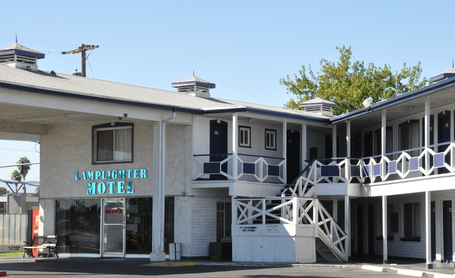The Lamplighter Motel on Fremont Street was recently sold. (Buford Davis)