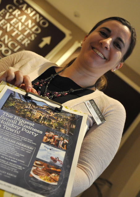 Buford Davis/Las Vegas Business Press Green Valley Ranch catering director Lindsay Wolf says an increase in corporate holiday party books is reflective of an improving economic landscape in southe ...