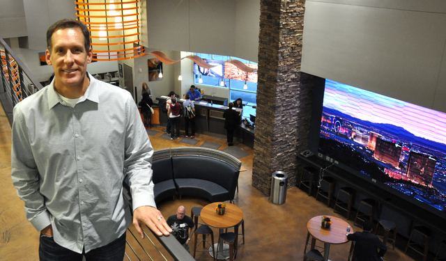Buford Davis/Las Vegas Business Press Sundance Helicopters President Jim Greiner says the company is investing in creating an premium event space to host parties integrated with helicopter tours.