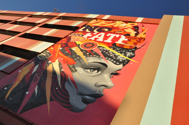 Buford Davis/Las Vegas Business Press The El Cortez has provided surfaces, including the casino parking structure on Fremont Street for artists to create murals in downtown Las Vegas.