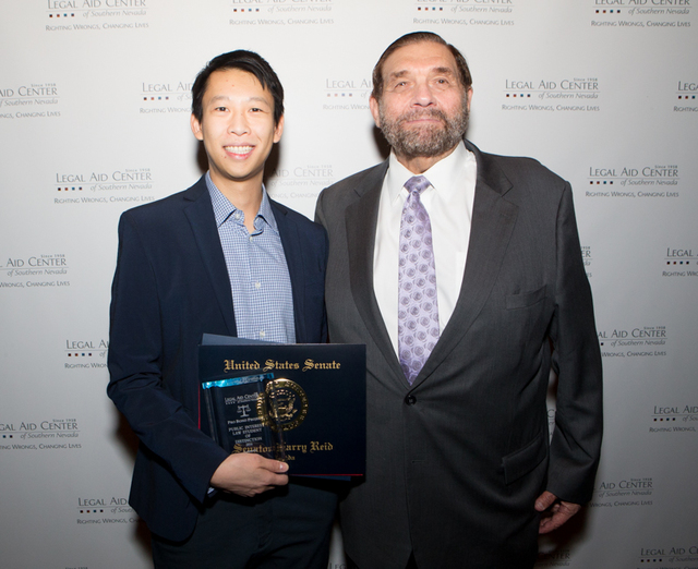 Local attorneys were honored at the 16th annual Pro Bono awards luncheon. The Public Interest Law Student of Distinction award went to Jonathan Chung. This award recognizes a law student who has m ...