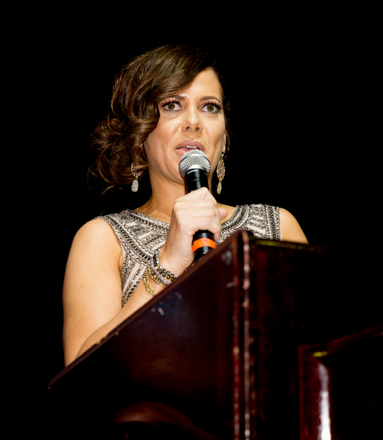 TONYA HARVEY/LAS VEGAS BUSINESS PRESS Fritzi Ortiz,  marketing executive at Ticor Title, was installed as the 2017 president of The Las Vegas chapter of the National Association of Hispanic Real E ...