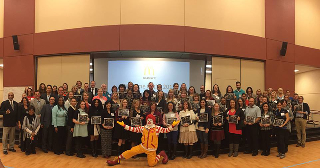 Local McDonald's owner/operators have committed to donate $50,000 to more than 100 local educators to fund programs for the 2016-2017 school year. (Courtesy)