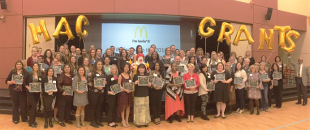 McDonald's 2016-2017 MAC Grant Recipients and McDonald's Owner/Operators (Courtesy)