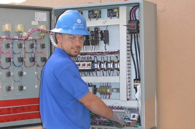 Clayton Moss of Helix Electric won a silver medal in a national skills competition recently in Ft. Lauderdale. (Stephanie Annis, special to the Las Vegas Business Press)