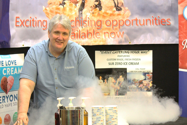 Shane Smith, Sub Zero area developer, shows how the sweet treats are made on location using liquid nitrogen.