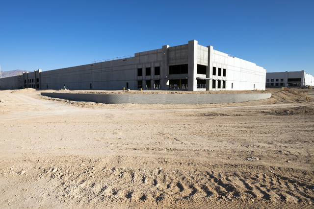Construction continued at Northgate Distribution Center at Lamb Boulevard and Interstate 15. The property was featured on the NAIOP Southern Nevada bus tour. (Ulf Buchholz/Las Vegas Business Press)