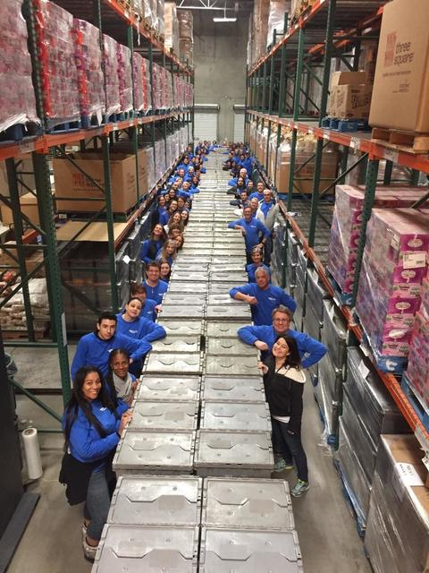 NV Energy packed 6,300 bags, breaking their own record of 6,010 backpacks set on Martin Luther King Jr. Day last year. (Courtesy)