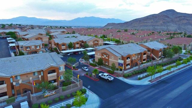 San Diego, California-based Pathfinder Partners acquires 89-unit Tierra Bella apartment community at 10620 Alexander Road in Las Vegas for $12.5 million. (Courtesy)