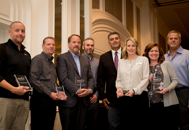 TONYA HARVEY/RJRealEstate.Vegas Members of the Southern Nevada Home Builders Association receive awards at the organization's Dec. 1 luncheon at the Four Seasons Hotel.