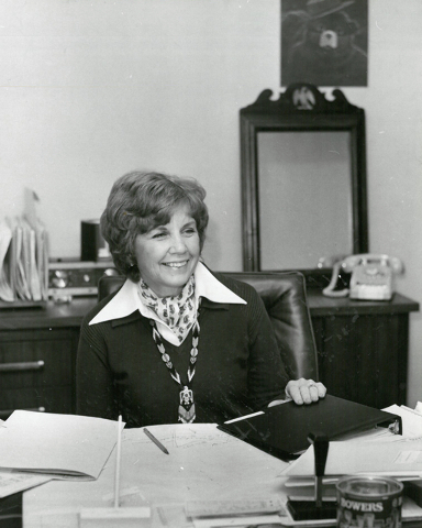 Thalia Dondero, the first woman elected to the Clark County Commission, is seen in this Las Vegas Reivew-Journal file photo.