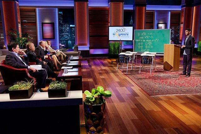 Shaan Patel, owner of Prep Expert, pitches his SAT preparation venture on ABC's Shark Tank. (Courtesy)