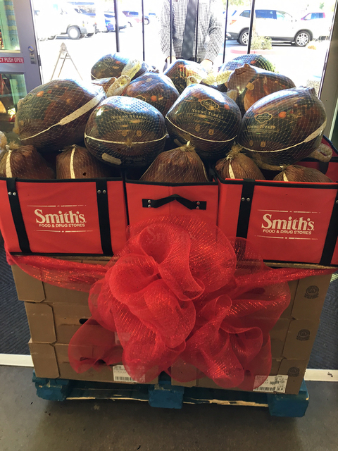America First Credit Union donated $10,000 to Operation Warmheart to purchase turkeys for military men and women this holiday season Smith's Food & Drug in North Las Vegas. (Courtesy)