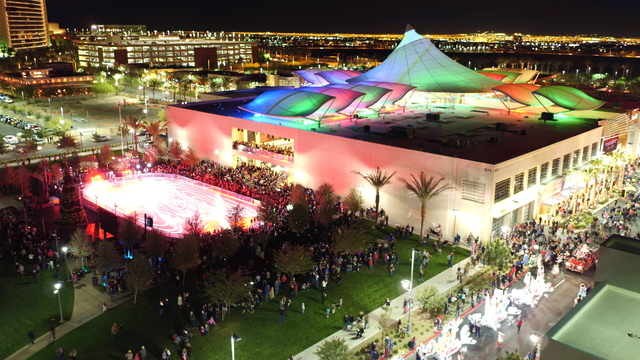 Downtown Summerlin features Rock Rink, a seasonal open-air ice skating facility that will be offered through January 15. Photo courtesy of The Howard Hughes Corp.