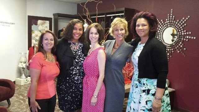 Joi Gordon, CEO of Dress for Success Worldwide, and Angela Williams, executive vice president of program development, joined local leadership and clients of Dress for Success Southern Nevada to he ...