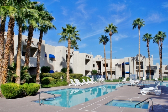 The 316-unit Mayan Plaza apartment complex at 1700 Alta Drive has been sold for $23.05 million. (Courtesy NAI Vegas)