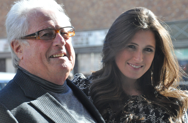 Kenny Epstein (left) and daughter Alex Epstein of the El Cortez Hotel and Casino, which is celebrating its 75-year anniversary in 2016. Photo by Buford Davis | Business Press