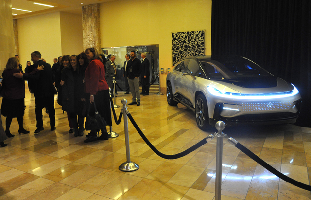 The success of auto maker Faraday Future factors heavily into the economic revitilization plans of North Las Vegas. Photo by Buford Davis / Las Vegas Business Press