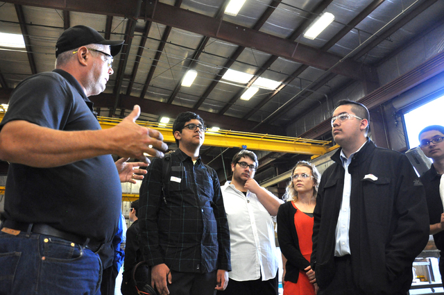 YESCO operations manager Daniel Beza instructs SECTA students about facility operations as part of the FutuReady program, Oct. 26. Photo by Buford Davis | Business Press