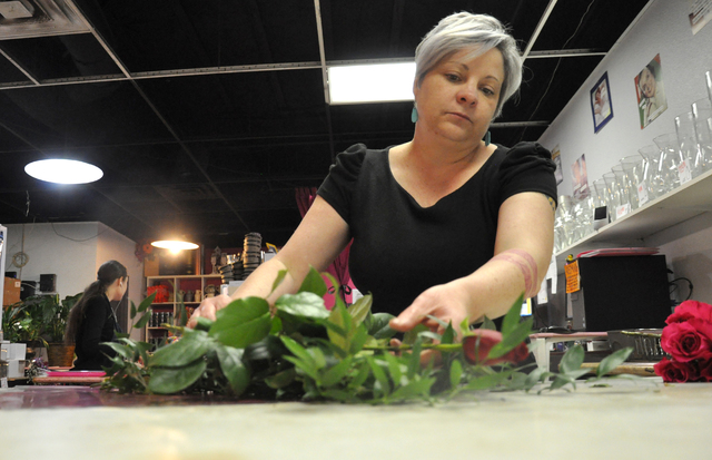 "Enchanted Florist co-owner Kathryn Null calls St. Valentine's Day ""the Super Bowl of flowers"" Photo by Buford Davis / Las Vegas Business Press"
